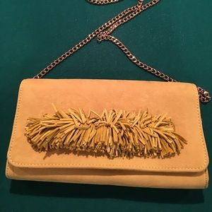 Yellow Faux Suede Evening Bag W/Tassel Detail‼️❤️